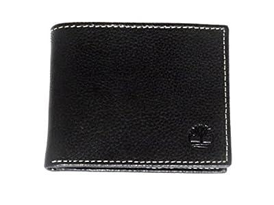 TIMBERLAND Men's Premium Genuine Leather Flipfold Passcase Wallet Onesize Black (one size, Black)