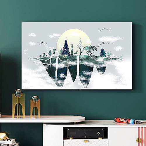 catch-L Geometría Triangular Cubierta De TV Cubierta De Polvo Colgando Caja De La Computadora Cubierta Antipolvo (Color : BH32-12, Size : 47-50inch)