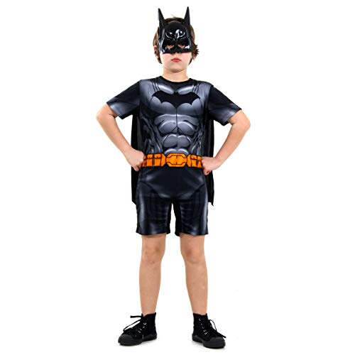 Sulamericana Fantasias Batman Curto DC Infantil , m 6/8 Anos, Preto