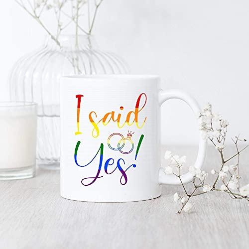 N\A Propuesta Gay LGBT/Taza/Compromiso LGBT/Regalo de Boda Gay/Taza de Amor Gay/Igualdad LGBT/Orgullo LGBT/Derechos Gay