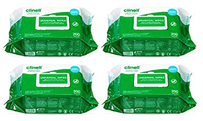 Clinell Universal Wipes (4 Pack of 200 Wipes) by