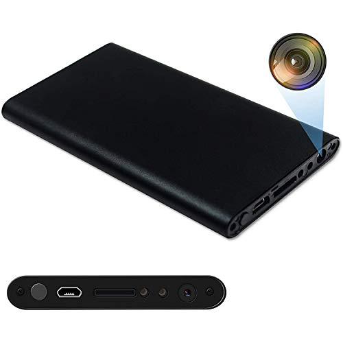 GEQWE Banco De Energía WiFi con Cámaras Espía, Cámara Niñera De Seguridad Encubierta Usable De 20000Mah 4K HD con Detección De Movimiento/Visión Nocturna/Función De Detección De Gravedad