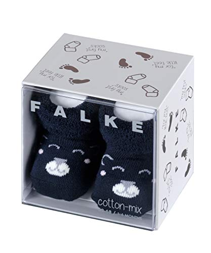 FALKE Unisex Baby Bear B SO Socken, Blau (Marine 6120), 1-6 Monate (62-68cm)