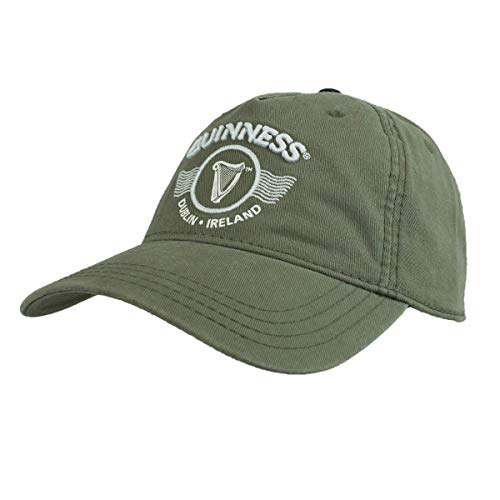Guinness Green Embroidered Harp Logo and Print Graphic Adjustable Cap