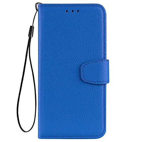 vingarshern Hülle für Oppo Reno4 Z 5G Schutzhülle Tasche Klappbares Magnetverschluss Flip Hülle Lederhülle Handytasche Oppo Reno 4 Z Hülle Leder Etui Brieftasche(Blau) MEHRWEG