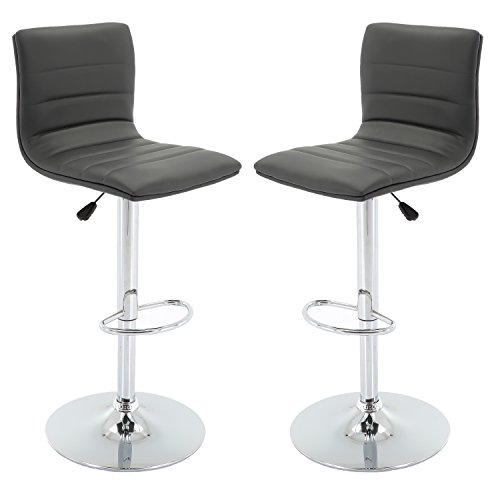 Vogue Furniture Direct Brage Living Nomad Height Adjustable Counter & Barstool Set (Set of 2) - Grey