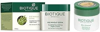 Biotique Bio WheatGerm Youthful Nourshing Night Cream, 50g|Bio Almond Soothing And Nourishing Eye Cream, 15g|Set of 2 Items