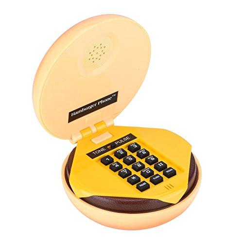Novelty Hamburger Cheeseburger Burger Phone Cute Telephones Landline Corded Phone Desktop Phone for Home Hotel Office Decoration Kids Gift