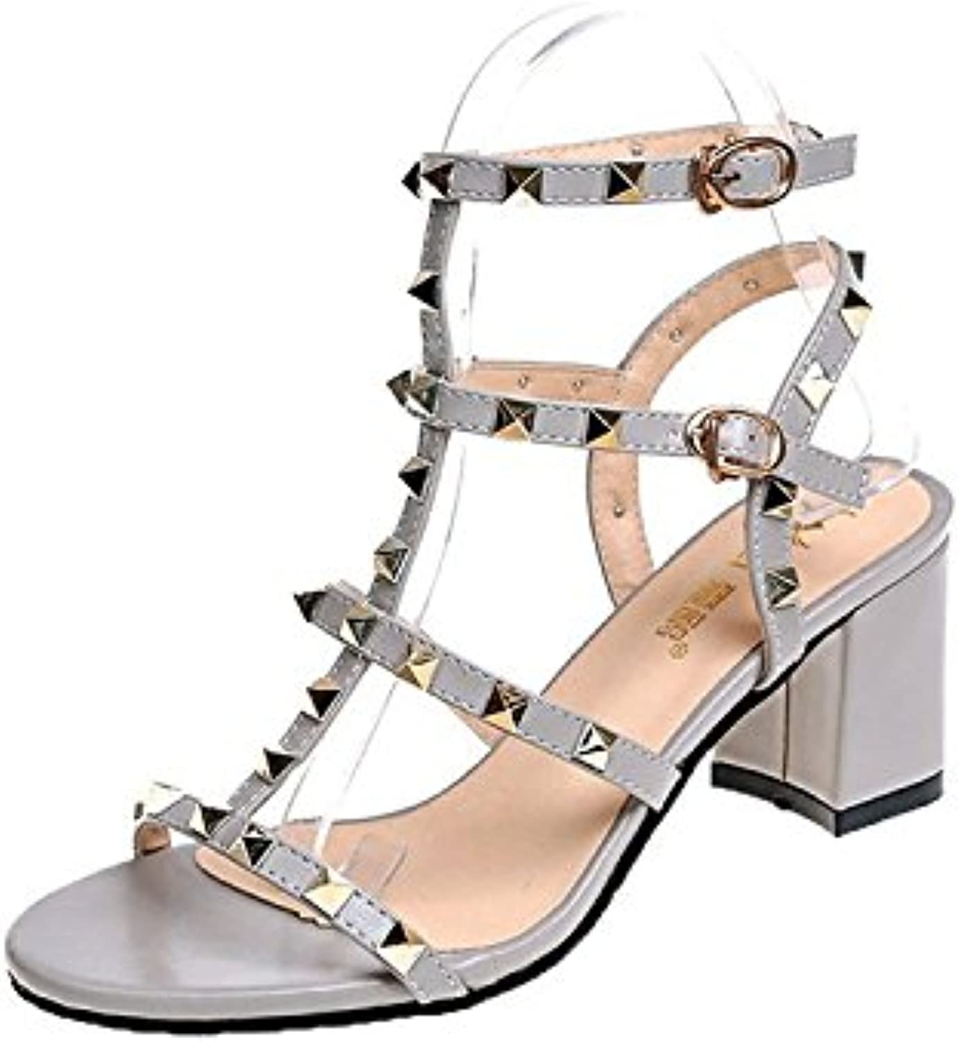 LHJY Sandals High Heels Summer Fashion Fashion Hollowed Out Toes Rome Sandals and Sandals