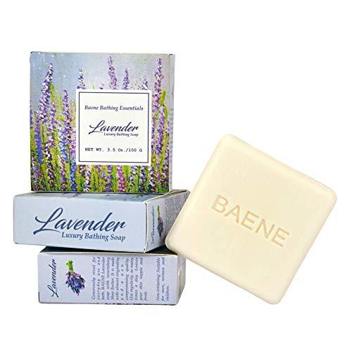 Baene Lavender Bath Soap Combo Gift Pack (3 pcs) for Men & Women - Luxury Bathing Soap - Shea butter, Almond oil - (100 g) - Organic Handmade