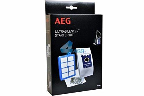 AEG AUSK9, Filter-/Staubbeutel-Vorteilset für VX8-1-, VX8-2-, VX8-öko, Usgreen, USECO, 4 Originalbeutel GR201 plus AllergyPlus Filter