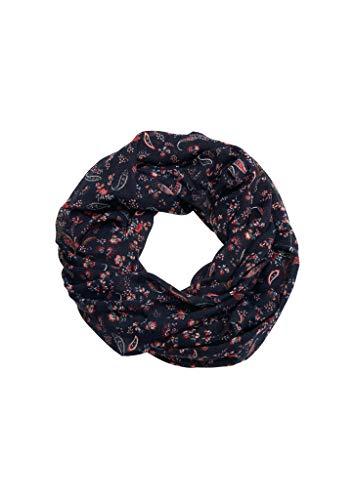 s.Oliver Damen Loop mit floralem Muster dark blue AOP 1
