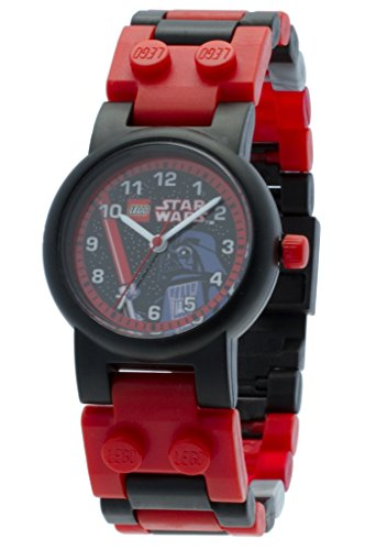 Reloj modificable infantil de Darth Vader de LEGO Star Wars 8020301 con pulsera por piezas y figurita