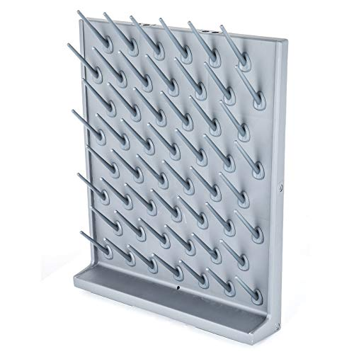 BananaB Laboratory Drying Rack 52 Holders Drying Draining Rack Glassware Drying Rack Wall Mount and Desk Stand Reagenzglas Trockengestell lab Reagenzglasständer (52 Holders)