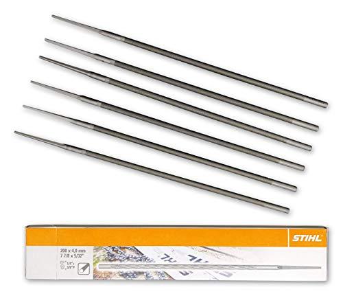 Stihl 5605 771 4006 – 6 limas redondas para cadenas de sierra de 4,0mm / 1/4