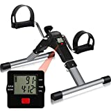 Folding Pedal Exerciser, CNTLIFE Portable Stationary Mini Exercise...