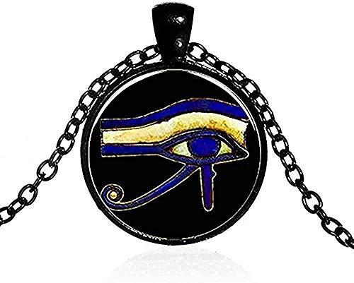 Halskette Männer S Alter Gott Horus Auge Halskette Drittes Auge Mandala Indischer Schmuck Retro Glas Cabochon Po Handgemachte Amulett Halskette Frauen Anhänger Halskette Geschenk Für Frauen