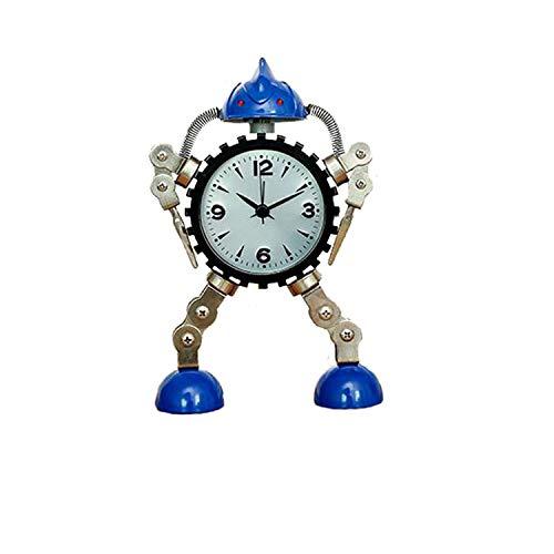 YUTRD ZCJUX Dormitorio Robot Reloj Despertador Nuevo Creativo Estudiante Reloj Despertador Lindo Regalo para niños Sala Digital Relojes de Mesa Decoración de Escritorio para el hogar