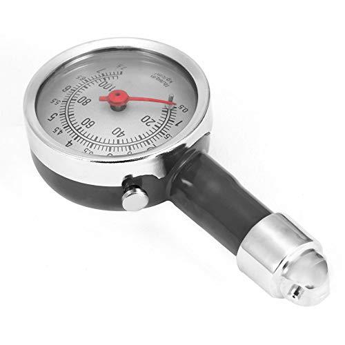 SENZHILINLIGHT Neumático de dial de Bicicleta de Motor de Coche de Alta precisión Negro Mini medidor de presión de neumáticos Herramientas de Monitor de presión fetal de medición