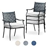 Top Space Metal Dining Chair Indoor Outdoor Use Patio Dinning Chairs...