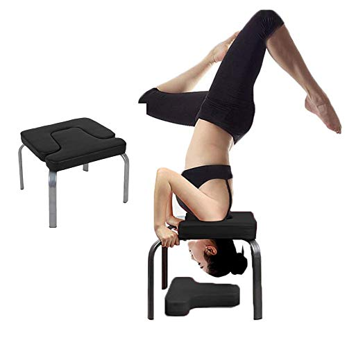 Great Deal! ZPF Yoga Inverted Chair, Headstand Bench, Balanced Body Headstand Bench for Practice Hea...