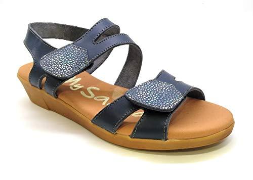 Oh! my Sandals 4669 Velcro Marino