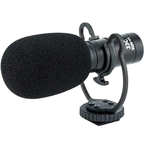 JJC SGM-V1 - Microfono a condensatore, per fotocamere DSLR, videocamere, smartphone, tablet, registratori ecc. Registrazione audio chiara, compatto e robusto