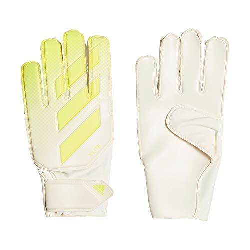 adidas X Lite Herren Handschuhe, Unisex, DN8539, Weiß/Gelb (Weiß/Solar Gelb), 10