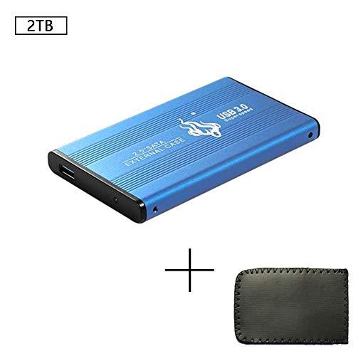 Walea Disco duro externo portátil USB 3.0 para PC, Mac, escritorio, portátil, Wii U, Xbox One, Xbox 360, PS4/PS4 Pro/PS4 Slim USB 3.0 500 GB Azul