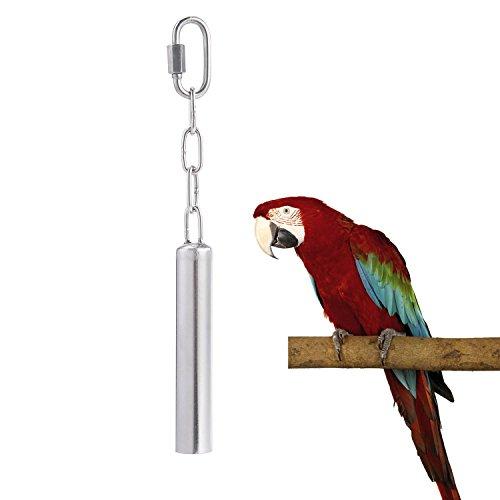 Aolvo - Campana de acero inoxidable para pájaros, juguetes para colgar pesados...