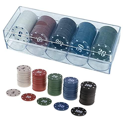 Jetons de Casino Jeu de jetons de Poker Jetons en Plastique Jetons de Jeux Colorés Jetons Lasers pour Compter Les marqueurs mathématiques Apprentissage jetons de Poker 100 pièces