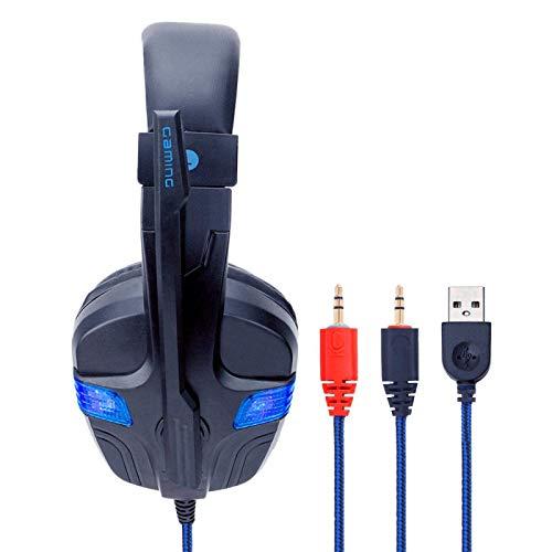 Gaming Headset Gaming PS4 auriculares para juegos emisores de luz SY860MV negro y re'd PC auriculares emisores de luz son packe'd JoinBuy.R