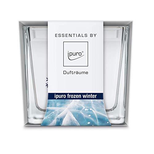 ipuro Essentials Duftkerze frozen winter - Raumduft für eine erfrischend-winterliche Atmosphäre - Kerze mit hochwertigen Inhaltsstoffen (125g) -Perfekt als Geschenk