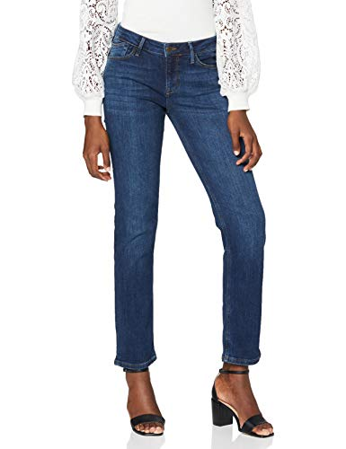 Cross Jeans Damen Rose Straight Jeans, Blau (Dark Blue Used 057), W31/L30 (Herstellergröße: 31/30)