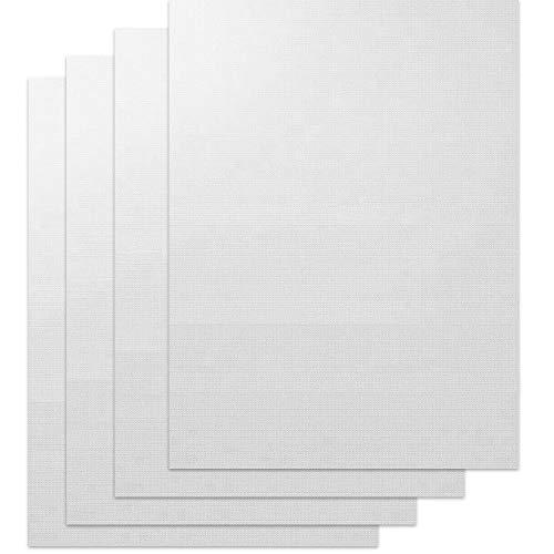 LokiLux PTFE Teflon Sheet for Heat Press 4 Pack,16' x 24' Non Stick Heat Resistant Craft Mat,Heat Transfer Teflon Paper Sheet for Baking/BBQ/Grill Mats,White