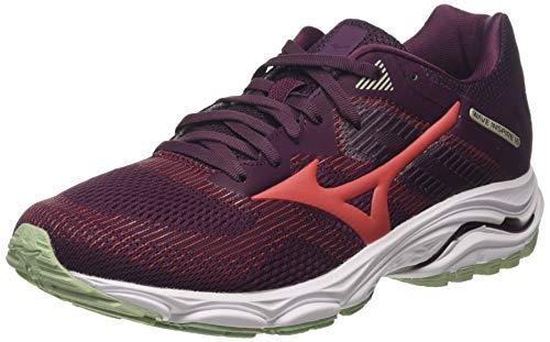 Mizuno Wave Inspire 16, Zapatillas de Running para Mujer, Rojo (Mauvewne/Cayenne/Bokchoy 59), 36.5 EU