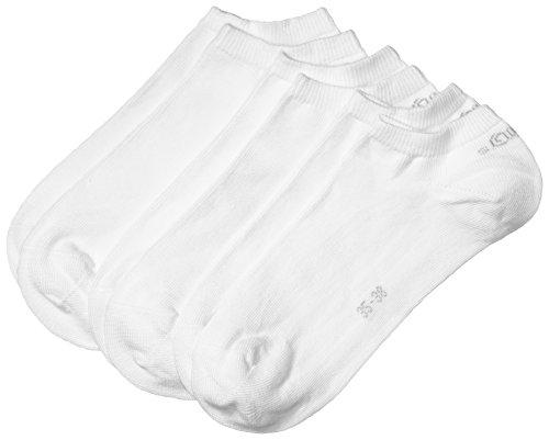 s.Oliver Unisex 3er Pack Sneakersocken mit weichem B& Damen und Herren Füßlinge, Gr. 35-38, Weiß (01 white)