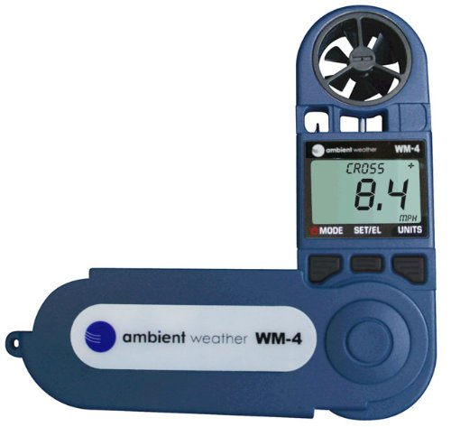 Product Image 3: Ambient Weather WM-4 Handheld Weather Station w/Windspeed, Direction, Temperature, Humidity, Compass, Dew Point, Comfort Index, Psychrometer