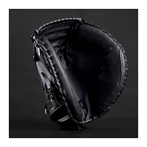 DXLANS Guantes De BéIsbol,Guante De Softbol Wilson Deportes al Aire Libre Marrón Negro Béisbol Catcher Guante Softbol Equipo de práctica Tamaño 12.5 Mano Izquierda para Entrenamiento de Adultos