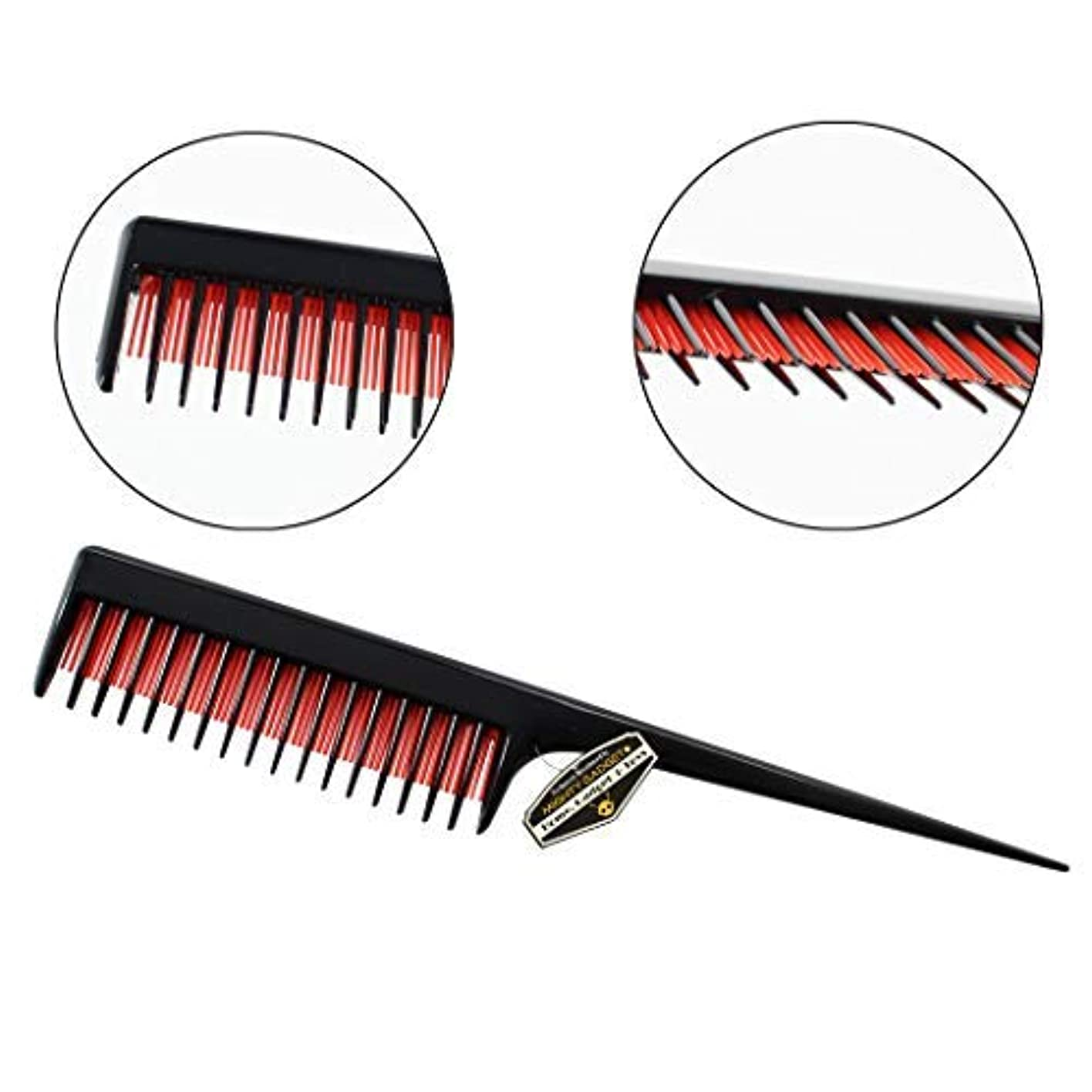 ホーム掃くあなたのもの3 Pack of Mighty Gadget 8 inch Teasing Comb - Rat Tail Comb for Back Combing, Root Teasing, Adding Volume, Evening Styling for Thin, Fine and Normal Hair Types [並行輸入品]