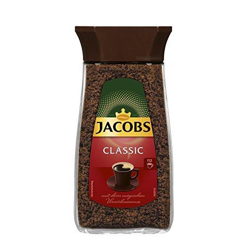 Jacobs löslicher Kaffee Classic, 6er Pack, 6 x 200 g Instant Kaffee