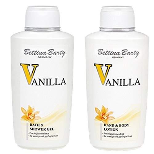 Bettina Barty Vanilla Bath & Shower Gel 500 ml & Körperlotion 500 ml