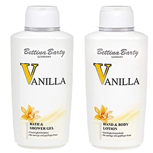 Bettina Barty Vanilla Bath & Shower Gel 500 ml & Körperlotion 500 ml