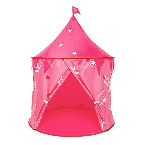 TRUBUY Kinder Spielzelte, Folding Princess Castle Zelt Tragbare Pop-up Zelt Mädchen Jungen Spielhaus für Indoor Outdoor Einsatz Kinder Geburtstagsgeschenk