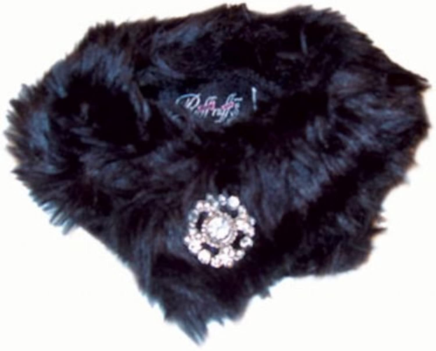 Faux Mink Stole  Black for Dogs