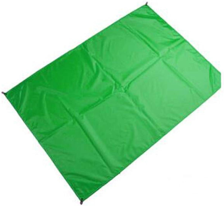 Waterproof Beach Mat Outdoor Blanket Portable Picnic Mat Camping Baby Climb Ground Mat Mattress,1.4x1.5m,Green