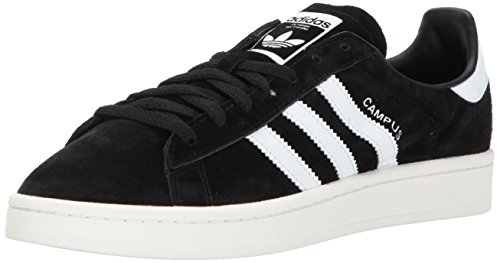 Adidas Mens Campus Core Black Footwear White Nubuck Trainers 41 1/3 EU