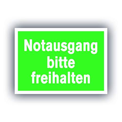 5X XXL Notausgang frei halten Aufkleber A4 Sticker 21 x 29,7 cm