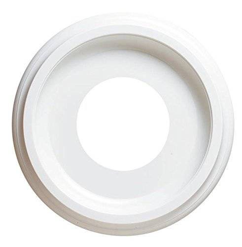 9-3/4-Inch Molded Plastic Ceiling White Finish Medallion for Light Fixtures and Ceiling Fans
