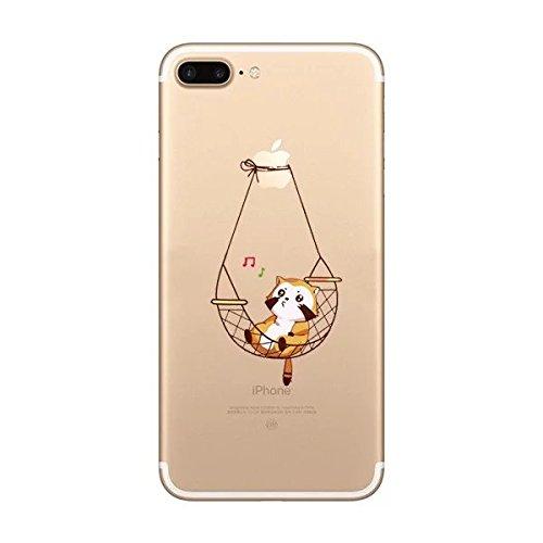 Sycode Drôle Hamac Chat Désign Doux Cristal Clair Housse Etui Coque de Protection pour iPhone 6S Plus/6 Plus 5.5\